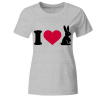 I ate all the easter eggs Hase Frauen T-Shirt