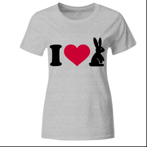 I love Hasen Frauen T-Shirt
