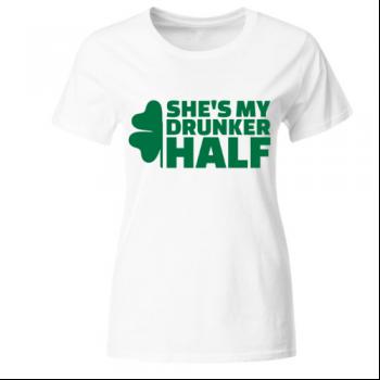 Drunker half 1 Frauen T-Shirt