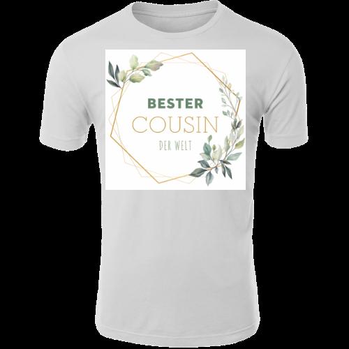Bester Cousin der Welt Spruch Blumen Rahmen Danke T-Shirt