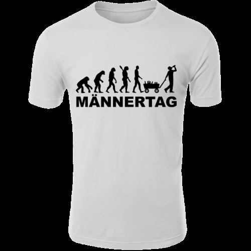 Evolution Männertag Vatertag T-Shirt